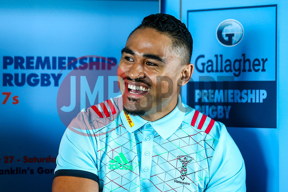 Francis Saili of Harlequins at the launch of the 2018/19 Gallagher Premiership Rugby Season Fixtures - Mandatory by-line: Robbie Stephenson/JMP - 06/07/2018 - RUGBY - BT Tower - London, England - Gallagher Premiership Rugby Fixture Launch