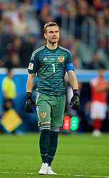 SAINT PETERSBURG, RUSSIA - Tuesday, June 19, 2018: Russia's goalkeeper Igor Akinfeev during the FIFA World Cup Russia 2018 Group A match between Russia and Egypt at the Saint Petersburg Stadium. (Pic by David Rawcliffe/Propaganda)