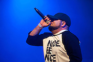 Illest*Lyricists Mark Garcia performs at Spirit of Hip Hop on December 2, 2016 at the Knitting Factory in Boise, Idaho. This benefit show, presented by Earthlings Entertainment, utilized their hip hop roots to raise funds for Hays House and Idaho Food Bank.<br /> <br /> Performers included Freedom Renegades, Illest*Lyricists, Exit Prose, CoreVette Dance Crew, Dirtydice, Dedicated Servers, Earthlings Entertainment, DJ Manek and Auzomatik.