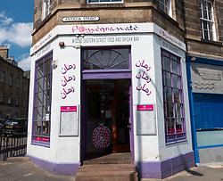 Pomegranate Middle Eastern restaurant in Edinburgh, Scotland, UK