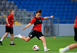 ASTANA, KAZAKHSTAN - Friday, September 15, 2017: Wales' Angharad James training at the Astana Arena ahead of the FIFA Women's World Cup 2019 Qualifying Round Group 1 match against Kazakhstan. (Pic by David Rawcliffe/Propaganda)