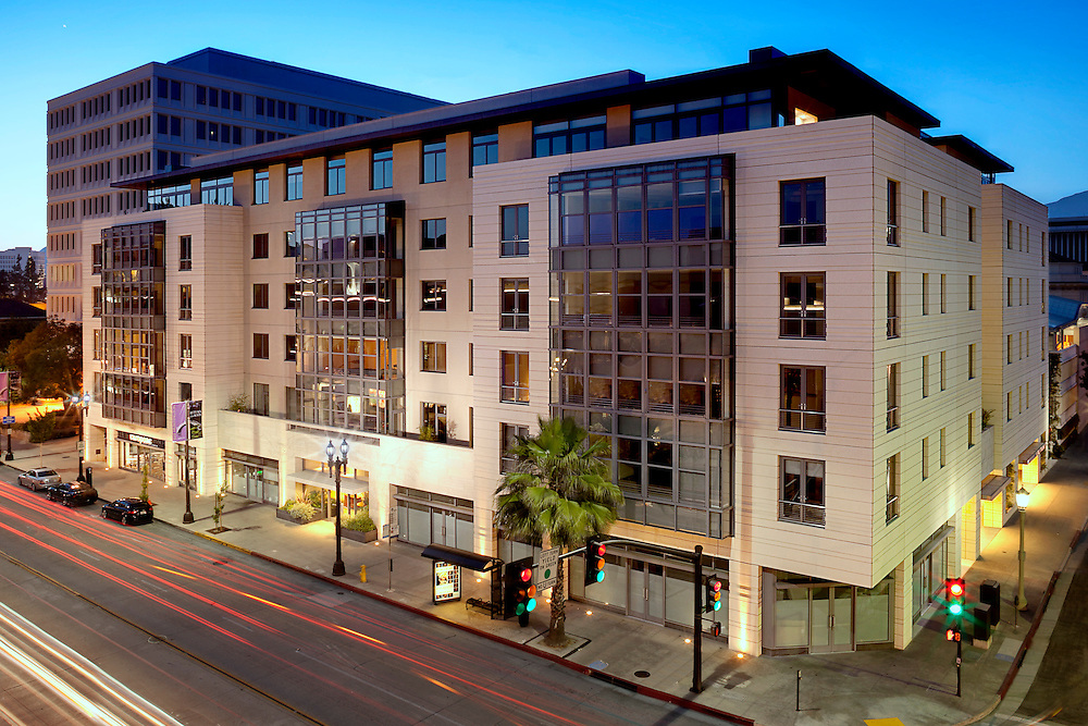 "Exterior front view of ""The Montana"" condominium development in Pasadena, CA."