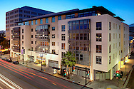 "Exterior front view of ""The Montana"" condominium development in Pasadena, CA."