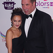 Battersea Evolution London, England, UK, 27th November 2017. David Seaman, Frankie Poultney attend the British Curry Awards, London,