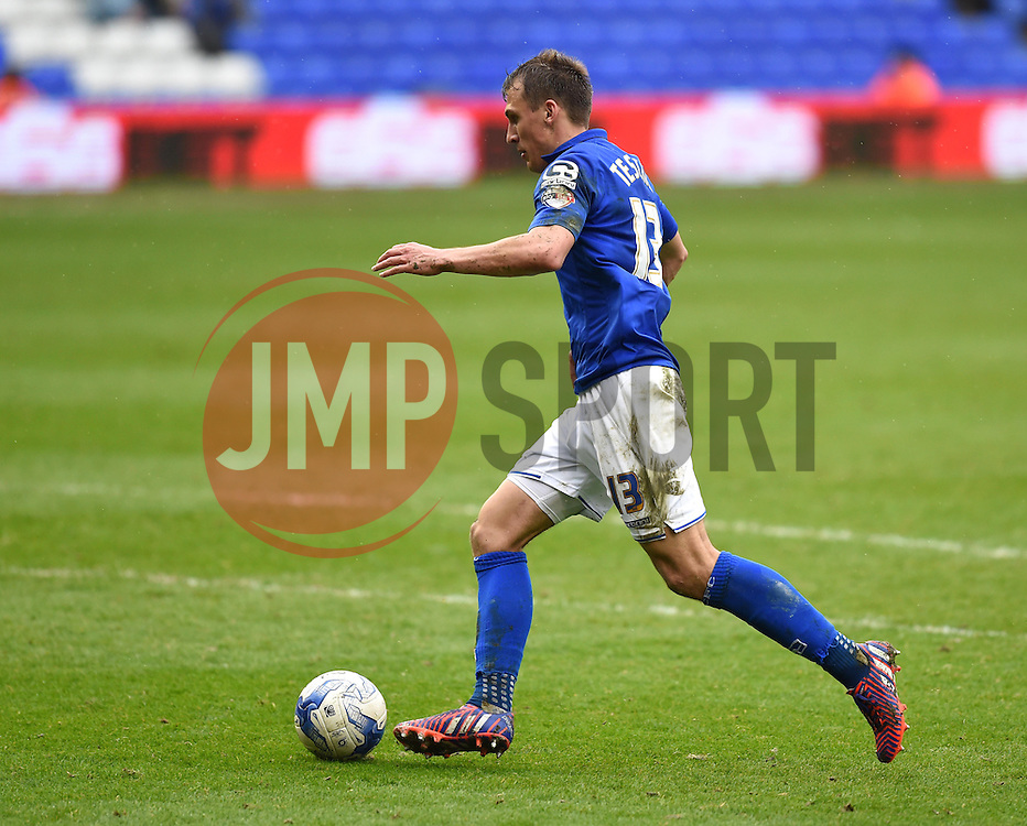 Birmingham City's Robert Tesche closes in for a failed attempt at the Rotherham goal - Photo mandatory by-line: Paul Knight/JMP - Mobile: 07966 386802 - 03/04/2015 - SPORT - Football - Birmingham - St Andrew's Stadium - Birmingham City v Rotherham United - Sky Bet Championship