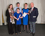 The 2015 Scottish Border Business Award winners for Micro Business of the Year for Business Innovation:  Aquarius Hair Design, Earlston. Standing with them is  Jack Clark, Convenor the SBCC, The award was sponsored by the Federation of Small Businesses.<br />