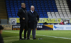 Peterborough United Manager Steve Evans and Assistant Manager Paul Raynor watch on from the touchline - Mandatory by-line: Joe Dent/JMP - 01/12/2018 - FOOTBALL - ABAX Stadium - Peterborough, England - Peterborough United v Bradford City - Emirates FA Cup second round proper