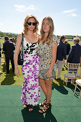 Left to right, CAMILLA AL FAYED and the HON.EMILY PEARSON at the St.Regis International Polo Cup at Cowdray Park, Midhurst, West Sussex on 16th May 2015.