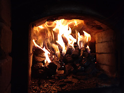 Sally's Apizza Restaurant Fire Box for the Oven - New Haven CT 2 June 2019