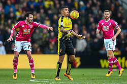 Troy Deeney of Watford chests the ball - Mandatory byline: Jason Brown/JMP - 27/02//2016 - FOOTBALL - Vicarage Road - Watford, England - Watford v Bournemouth - Barclays Premier League