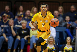 Nov 24, 2018; Morgantown, WV, USA; Valparaiso Crusaders guard Deion Lavender (2) dribbles the ball up the floor during the first half against the West Virginia Mountaineers at WVU Coliseum. Mandatory Credit: Ben Queen-USA TODAY Sports