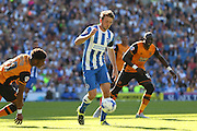 Brighton central midfielder, Dale Stephens on the ball during the Sky Bet Championship match between Brighton and Hove Albion and Hull City at the American Express Community Stadium, Brighton and Hove, England on 12 September 2015. Photo by Phil Duncan.