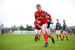 NEWPORT, WALES - Sunday, September 24, 2017: Wales' William Rickard warms-up during an Under-16 International friendly match between Wales and Gibraltar at the Newport Stadium. (Pic by David Rawcliffe/Propaganda)