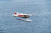 Floatplane preparing to land, Ketchikan, Alaska, USA