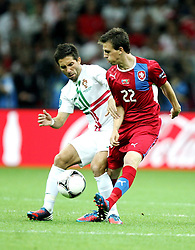 21.06.2012, Nationalstadion, Warschau, POL, UEFA EURO 2012, Tschechien vs Portugal, Viertelfinale, im Bild JOAO MOUTINHO POR VLADIMIR DARIDA CZE // JOAO MOUTINHO POR  VLADIMIR DARIDA CZE // during the UEFA Euro 2012 Quarter Final Match between Czech Republic and Portugal at the National Stadium Warsaw, Poland on 2012/06/21. EXPA Pictures © 2012, PhotoCredit: EXPA/ Newspix/ Michael Nowak..***** ATTENTION - for AUT, SLO, CRO, SRB, SUI and SWE only *****