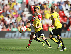 Eric Lichaj of Nottingham Forest (L) and Matt Palmer of Burton Albion in action - Mandatory by-line: Jack Phillips/JMP - 06/08/2016 - FOOTBALL - The City Ground - Nottingham, England - Nottingham Forest v Burton Albion - EFL Sky Bet Championship