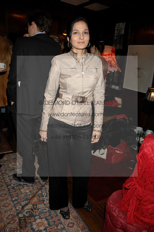 YASMIN MILLS at a tea party to launch Pearl Lowe's Spring 2007 fashion collection held at Libery, Great Marlborough Street, London on 20th March 2007.<br />