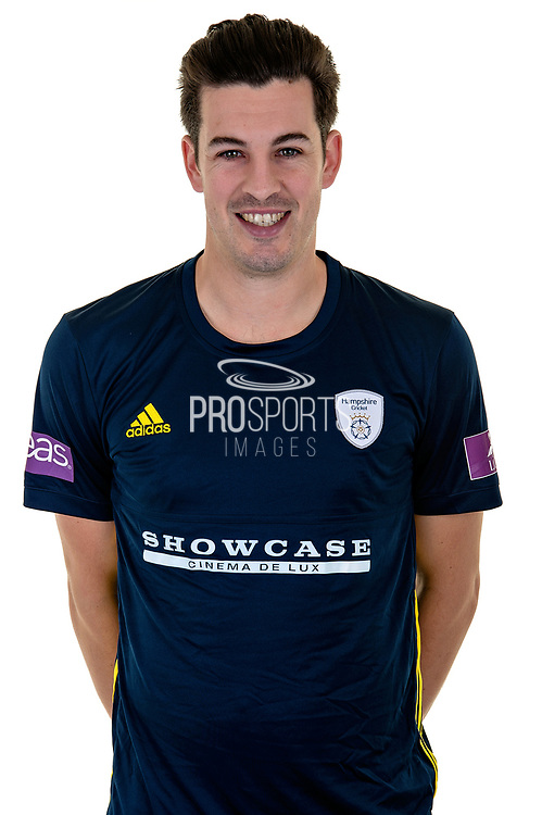 Chris Wood of Hampshire in Royal London One Day Cup kit  during the Hampshire County Cricket Club Media Day at the Ageas Bowl, Southampton, United Kingdom on 10 April 2018. Picture by Dave Vokes.