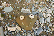 West Coast Trail - Day 2.  An unidentified funny face smiles at low tide.