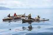 Madagascar, fishing dugout canoes