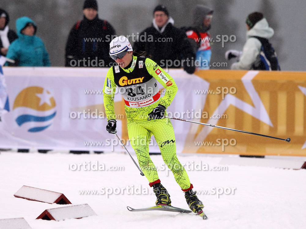 26.11.2011, Kuusamo, FIN, FIS Langlauf Weltcup, SP C, 5 km Damen, im Bild KATJA VISNAR // // during Cross Country, SP C, 5 km Lady at FIS Cross Country Worldcup in Kuusamo, Finnland on 2011/11/26. EXPA Pictures © 2011, PhotoCredit: EXPA/ Newspix/ Jerzy Kleszcz..***** ATTENTION - for AUT, SLO, CRO, SRB, SUI and SWE only *****
