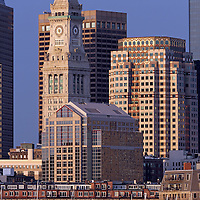 http://juergen-roth.artistwebsites.com/featured/downtown-boston-with-sail-boats-juergen-roth.html &lt;&lt;&lt; Boston cityscape and skyline photography from New England and Boston based fine art photographer Juergen Roth showing landmarks such as Boston Downtown, Custom House of Boston and Boston Harbor with sail boats captured on a beautiful morning in spring.<br />