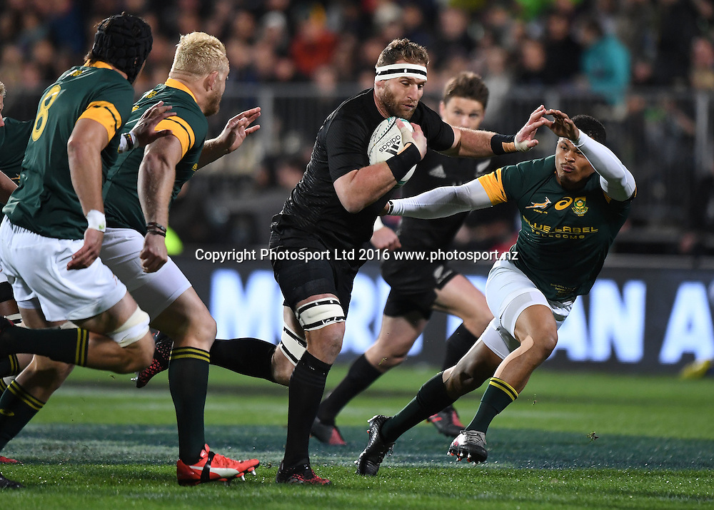 Kieran Read.<br /> New Zealand All Blacks v South Africa. Test match rugby union. The Rugby Championship. Christchurch, New Zealand. Saturday 17 September 2016. &copy; Copyright Photo: Andrew Cornaga / www.Photosport.nz