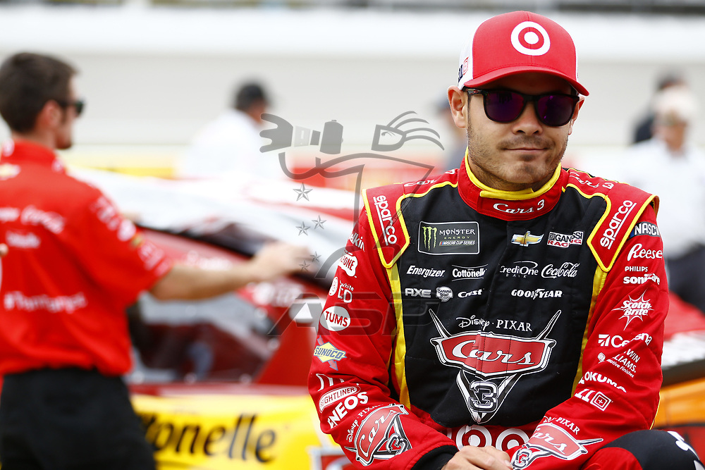 June 16, 2017 - Brooklyn, MI, USA: Kyle Larson (42) hang out on pit road before qualifying for the FireKeepers Casino 400 at Michigan International Speedway in Brooklyn, MI.
