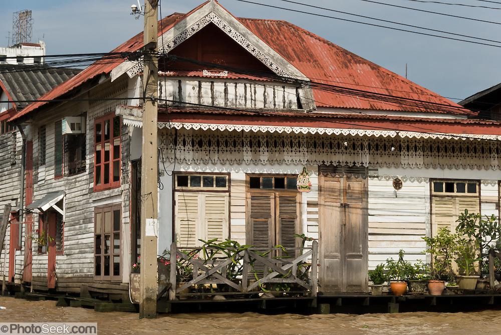 A wood house along a khlong (canal), Bangkok, Thailand