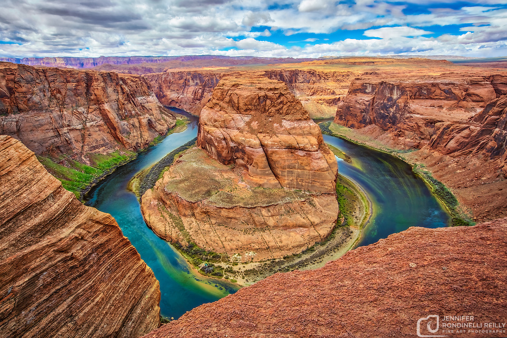 Horseshoe Bend is located near Page, AZ about 5 miles from Grand Canyon National Park. This awe inspiring bend in the Colorado River is a must see!