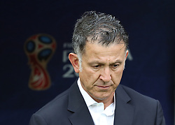 MOSCOW, June 17, 2018  Head coach Juan Carlos Osorio of Mexico is seen prior to a group F match between Germany and Mexico at the 2018 FIFA World Cup in Moscow, Russia, June 17, 2018. (Credit Image: © Xu Zijian/Xinhua via ZUMA Wire)