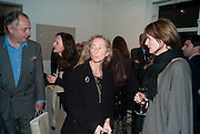 SEBASTIAN WHITESTONE; PRISCILLA RATAZZI; INDIA JANE BIRLEY, Book signing reception for a photo book of Black and White photographs of dogs Luna and Lola'  by Priscilla Rattazzi. Mungo and Maud. Elizabeth st. London. 9 November 2008. -DO NOT ARCHIVE-© Copyright Photograph by Dafydd Jones. 248 Clapham Rd. London SW9 0PZ. Tel 0207 820 0771. www.dafjones.com.