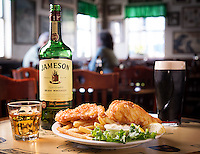 To showcase Jameson Irish Whiskey in its natural environment, I produced this food and beverage photography session at Four Green Fields in Tampa, Florida. This accompanied a campaign about Irish pubs and the St. Patrick's Day experience for Jameson.