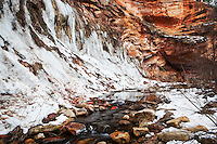 West Fork Oak Creek Canyon in Winter, Coconino National Forest, Arizona