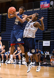 WF Shawn Williams (Duncanville, TX / Duncanville) grabs a rebound.  The NBA Player's Association held their annual Top 100 basketball camp at the John Paul Jones Arena on the Grounds of the University of Virginia in Charlottesville, VA on June 20, 2008