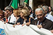 Milano, 25 aprile 2008. Corteo per la Festa della Liberazione. Armando Cossutta.