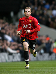 LONDON, ENGLAND - Saturday, February 2, 2008:Manchester United's Wayne Rooney in action against Tottenham Hotspur during the Premiership match at White Hart Lane. (Photo by Chris Ratcliffe/Propaganda)
