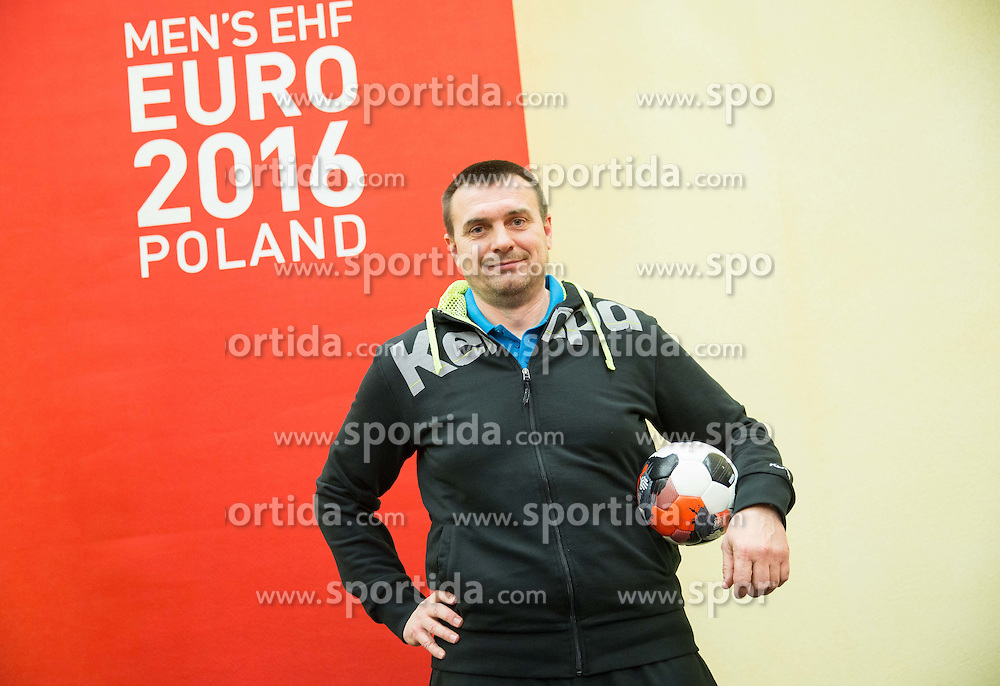 Uros Serbec, assistant coach of Slovenia prior to the handball match between National teams of Germany and Slovenia on Day 6 in Preliminary Round of Men's EHF EURO 2016, on January 20, 2016 in Centennial Hall, Wroclaw, Poland. Photo by Vid Ponikvar / Sportida
