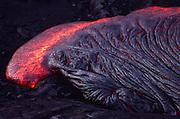 Pahoehoe lava, Kilauea Volcano, HVNP, Island of Hawaii<br />