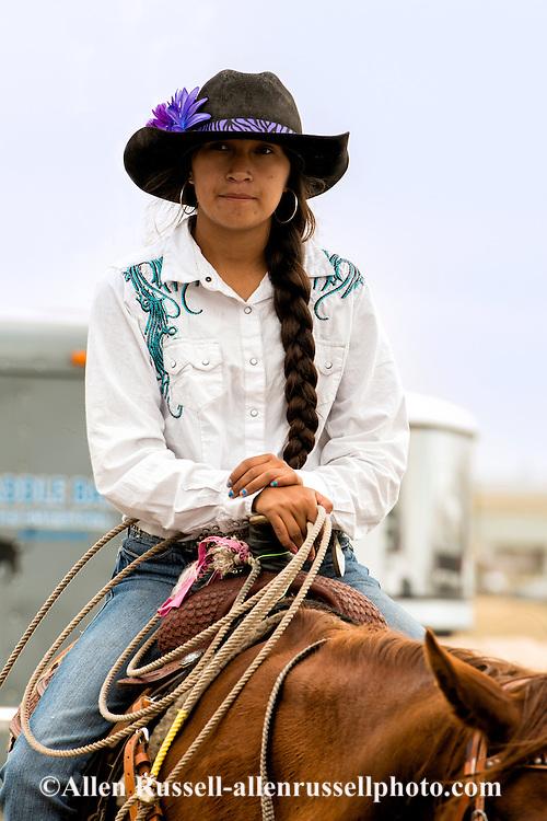 Breakaway Roper, Rocky Boy Rodeo, Rocky Boy Indian Reservation, Montana, Loren Four Colors, Chippewa Cree