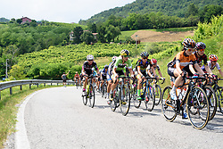 Doris Schweizer (Cylance Pro Cycling) on the road to Tarzo at Giro Rosa 2016 - Stage 1. A 104 km road race from Gaiarine to San Fior, Italy on July 2nd 2016.