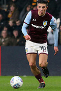 Aston Villa midfielder Jack Grealish (10) attacking  during the EFL Sky Bet Championship match between Hull City and Aston Villa at the KCOM Stadium, Kingston upon Hull, England on 31 March 2018. Picture by Mick Atkins.
