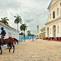 The chuch of Santísima Trinidad, the main building of Trinidad's Plaza Mayor