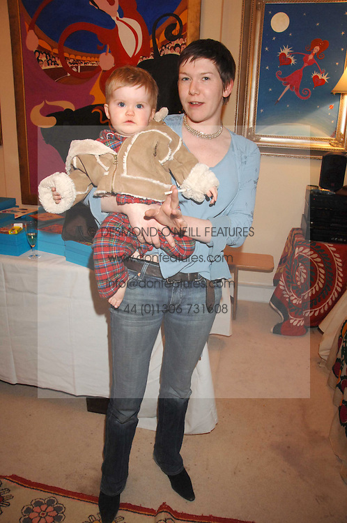LADY GEORGINA CAMPBELL and her daughter MARTHA CAMPBELL at a sale of pictures and gifts at Kitty Arden's home in Chelsea, London on 29th November 2007.<br />