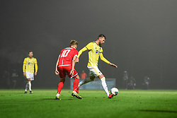 Amir Dervišević of Maribor during football match between NK Aluminij and NK Maribor in 18th Round of Prva liga Telekom Slovenije 2019/20, on November 24, 2019 in Sportni park Aluminij, Kidricevo Slovenia. Photo by Milos Vujinovic / Sportida