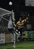 Photo: Barry Bland.<br />Boston United v Swindon Town. The FA Cup. 16/11/2005.<br />Julian Joachim and Matthew Bulman.