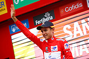 Podium, Rudy Molard (FRA - Groupama - FDJ) Red jersey, during the UCI World Tour, Tour of Spain (Vuelta) 2018, Stage 6, Huercal Overa - San Javier Mar Menor 155,7 km in Spain, on August 30th, 2018 - Photo Luca Bettini / BettiniPhoto / ProSportsImages / DPPI