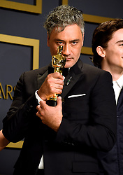 Taika Waititi with his Best Adapted Screenplay for Jojo Rabbit in the press room at the 92nd Academy Awards held at the Dolby Theatre in Hollywood, Los Angeles, USA.