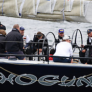 Shogun at the start of the 2009 Rolex Sydney to Harbour Yacht Race in Sydney Harbour
