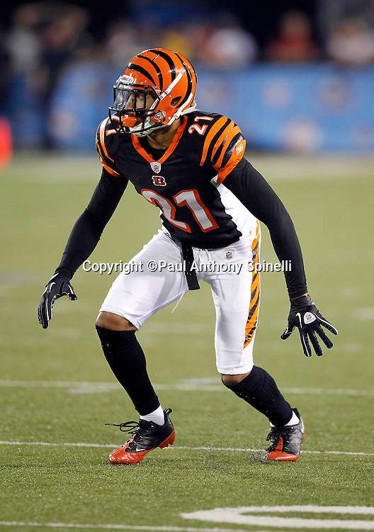 Cincinnati Bengals rookie cornerback Brandon Ghee (21) makes a move during the NFL Pro Football Hall of Fame preseason football game between the Dallas Cowboys and the Cincinnati Bengals on Sunday, August 8, 2010 in Canton, Ohio. The Cowboys won the game 16-7. (©Paul Anthony Spinelli)